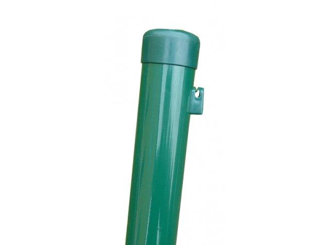Plotový sloupek zelený výška 210 cm, průměr 48 mm