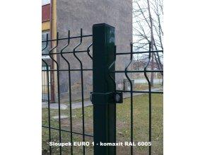 Plotový sloupek 60x60, výška 260 cm PVC, barva šedá
