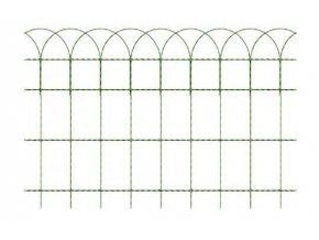 Okrasné pletivo ARCOPLAX, výška 40 cm zelené, balení 10 bm