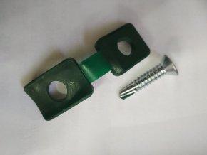 Příchytka certifikovaná z PVC na napínací drát - černá včetně šroubu