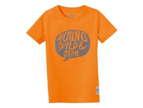 "Tričko ""young wild"" oranžové"