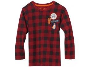 Tričko s dlouhým rukávem červené