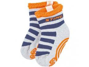 Dětské ponožky šedomodré