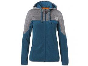 Fleecová bunda dámská modro šedá