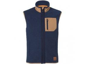 Fleecová vesta modrá