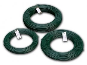 Napínací drát poplastovaný zelený (PVC) 2,5/3,5 mm, 26 m