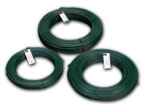 Napínací drát poplastovaný zelený (PVC) 2,5/3,5 mm, 52 m