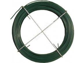 Vázací drát poplastovaný, délka 30 m, zelený