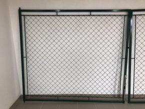 Brána dvoukřídlá 160 x 360 cm OKO zelená, rám 30 x 30 cm