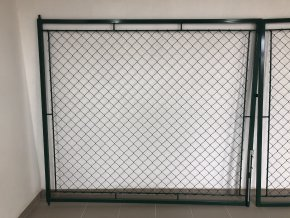 Brána dvoukřídlá 200 x 360 cm OKO zelená, rám 30 x 30 cm