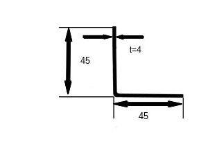 L 45x45x4