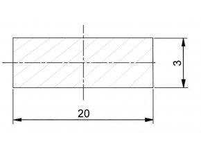 20 x 3 mm
