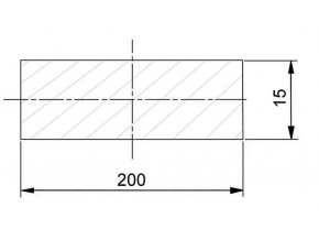 200 x 15 mm