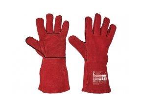 svář rukavice červené