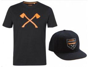 sada tričko AXE a baseball čep My AXE