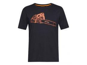 pánské tričko ms 500 černé