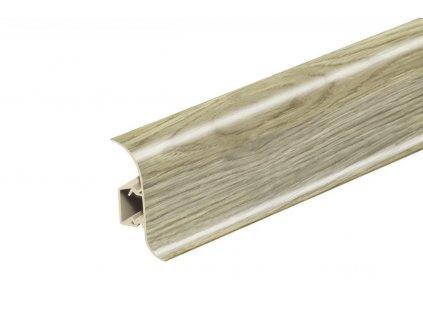 Soklová lišta NG56, Materiál PVC, Dekor dub pouštní, Výška 56 mm, Délka 2,5 m