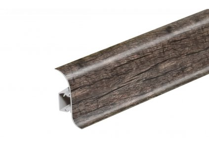Soklová lišta NG56, Materiál PVC, Dekor dub roak, Výška 56 mm, Délka 2,5 m