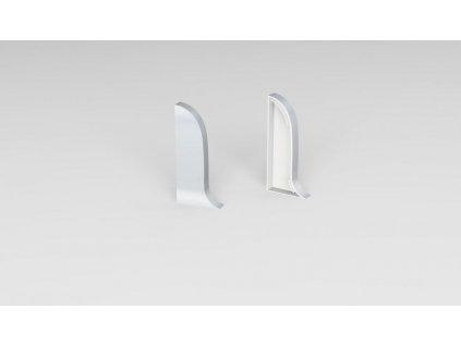 koncovka k NG56, PVC, stříbrná