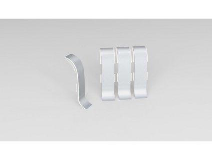 spojka k NG56, PVC, stříbrná