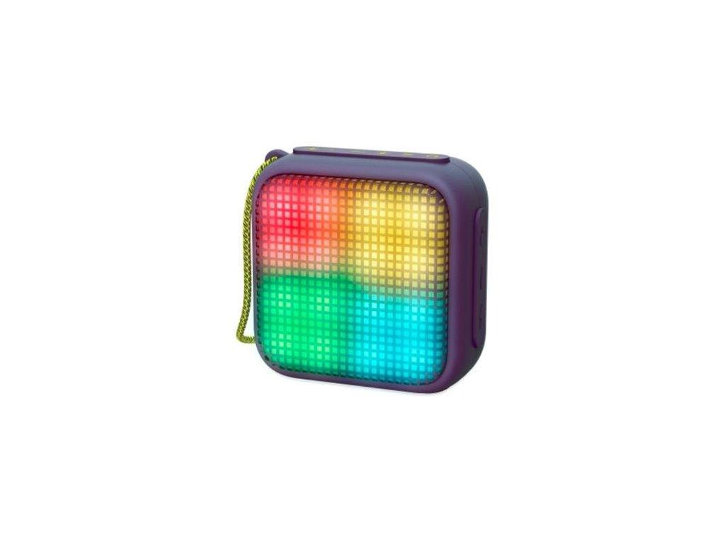 ENERGY Beat Box 2+ Lightcube Ametyst, přenosný BT reproduktor se světelnými efekty, MP3, FM rádio, audio vstup, 5W