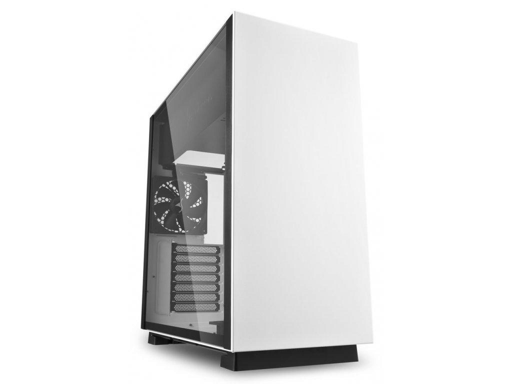 Sharkoon skříň PURE STEEL White / Middle Tower / 2x USB3.0 / průhledná bočnice / bílá