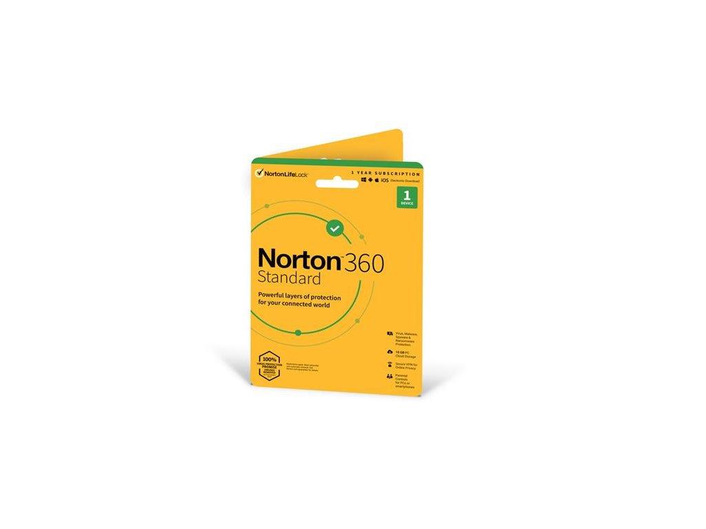 NORTON 360 STANDARD 10GB + VPN 1 uživatel pro 1 zařízení na 1rok