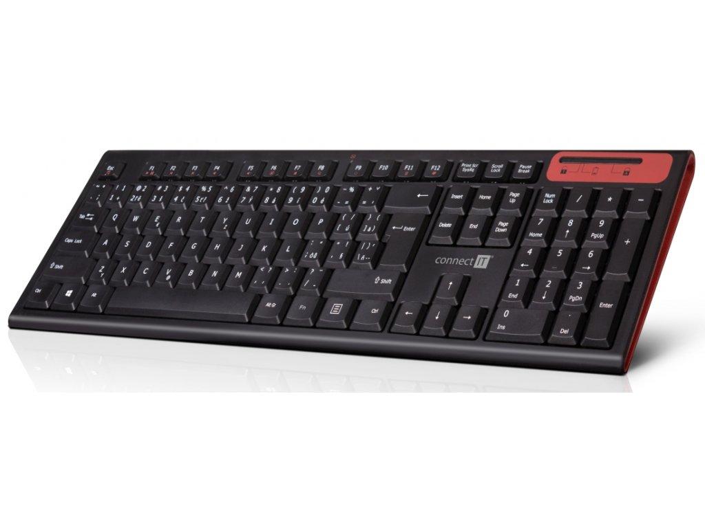 CONNECT IT Multimediální bezdrátová klávesnice, 2,4GHz, USB, CZ + SK layout, černá