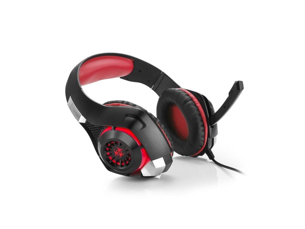 CONNECT IT BIOHAZARD herní sluchátka s mikrofonem, USB, 3,5mm jack