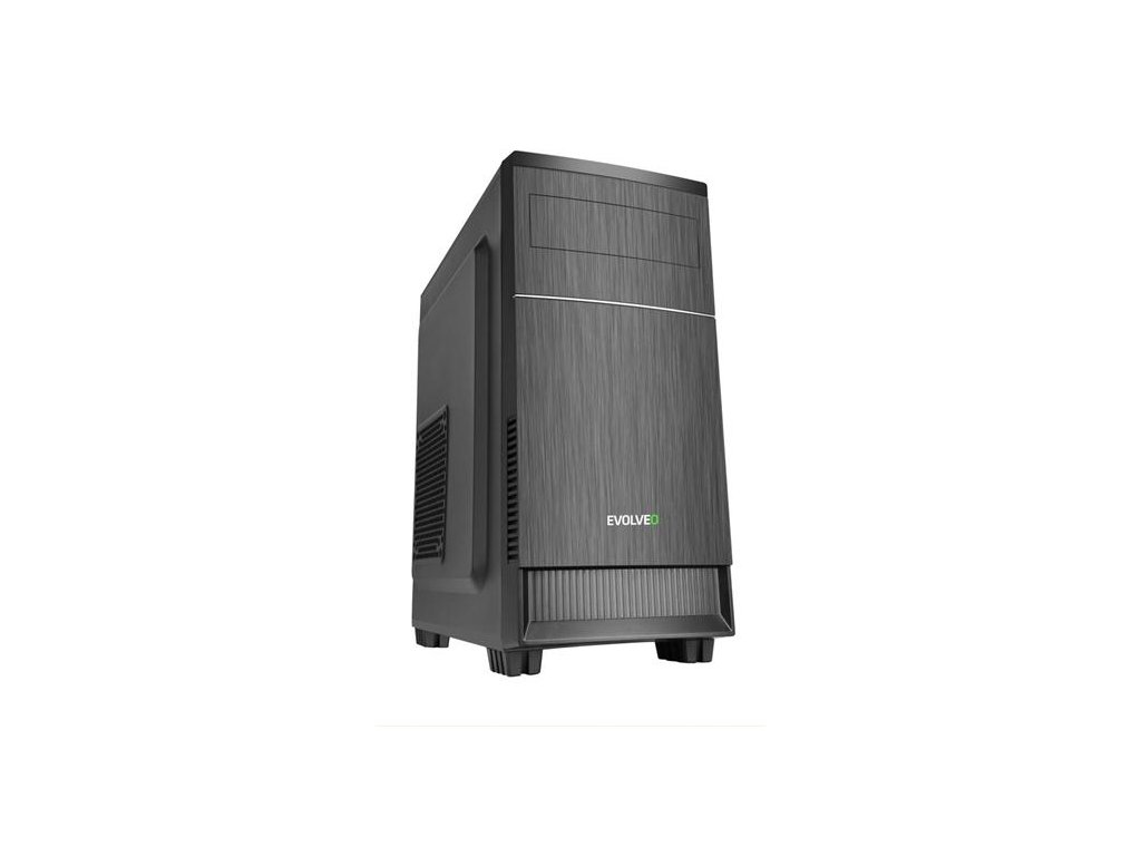 EVOLVEO M1, case mATX, 2x USB2.0 / 1x USB3.0 / 2x 120mm LED / 1x 140mm/ černý