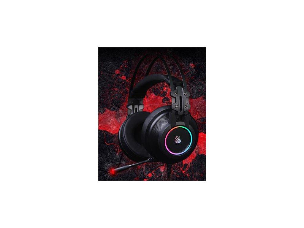 A4tech Bloody G528 herní sluchátka 7.1., USB, RGB flowing podsvícení