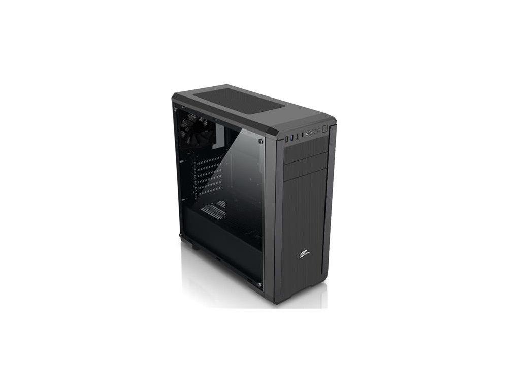 EVOLVEO Shaw 1, case ATX, 3 x USB, 3 x 120 mm ventilátor