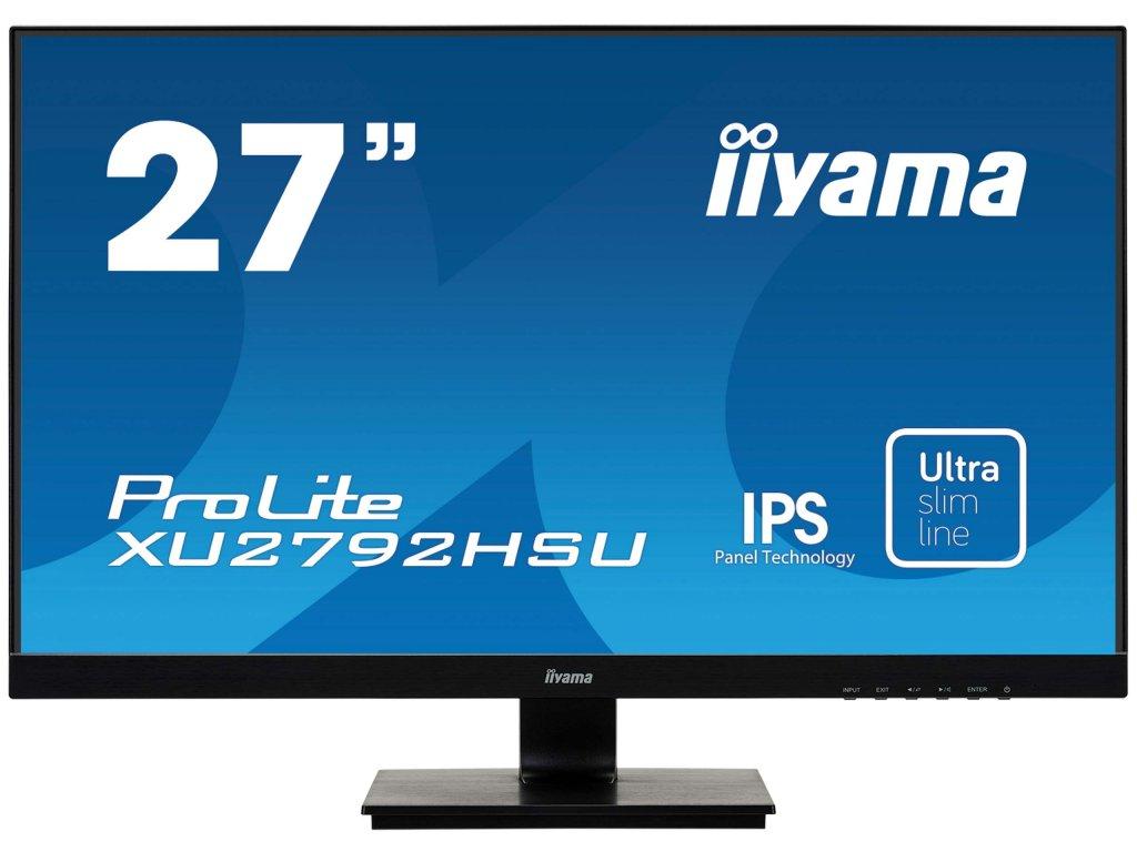 27'' iiyama XU2792HSU-B1: IPS, FullHD@75Hz, 250cd/m2, 4ms, VGA, HDMI, DP, USB, černý