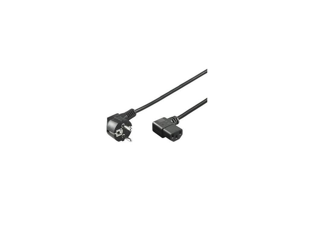 Síťový kabel 220V k PC, 2m 90°