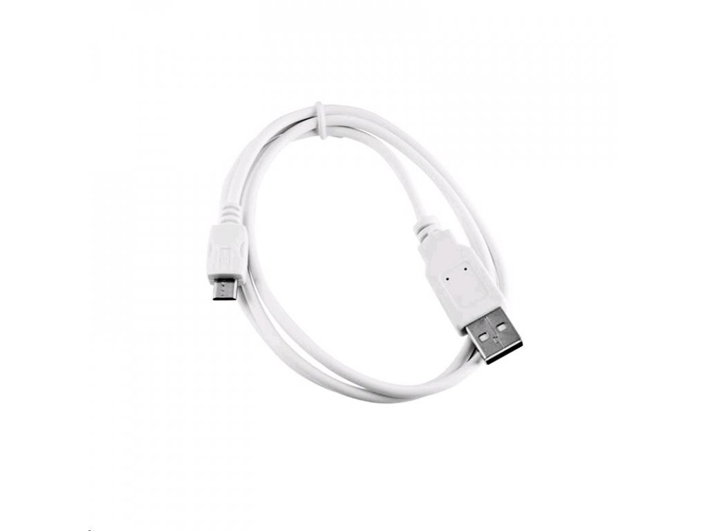 Kabel C-TECH USB 2.0 AM/Micro, 1m, bílý