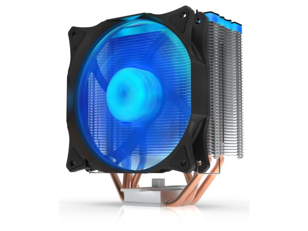 SilentiumPC chladič CPU Fera 3 RGB HE1224/ ultratichý/ 120mm fan/ 4 heatpipes/ RGB/ PWM/ pro Intel i AMD