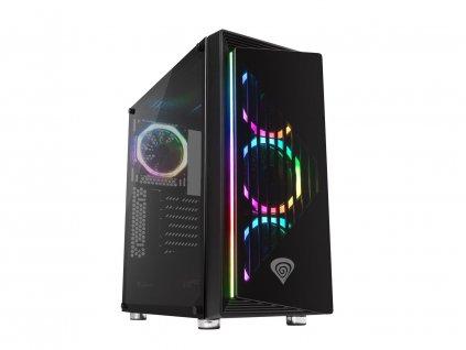 Počítačová skříň Genesis IRID 400 RGB MIDI (USB 3.0), 4x ventilátory RGB s dálkovým ovládáním