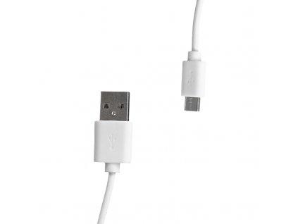 Whitenergy 09970 micro USB, 200cm, bílý
