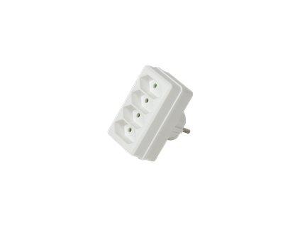 LOGILINK LPS220 LOGILINK- Socket adapter, 4x Euro, 2300W/250V, white