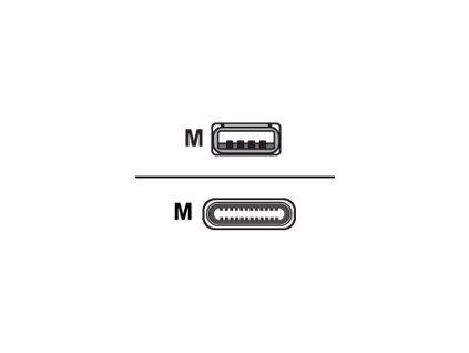 UNITEK Y-C4025ASL Unitek kabel USB - USB typ-C 2.0, stříbrný