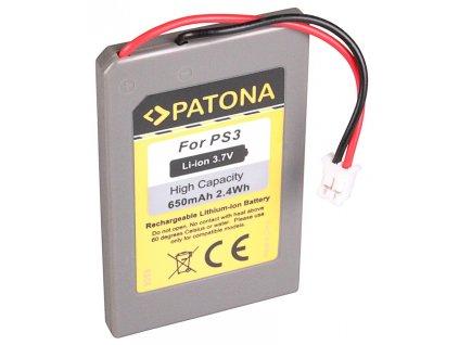 PATONA baterie pro herní konzoli Sony PS3 650mAh Li-lon 3,7V