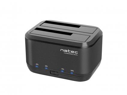 Dokovací stanice pro HDD 2,5''/3,5'' USB 3.0 Natec Kangaroo Dual, funkce klonování, napájecí adaptér