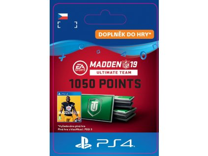 ESD CZ PS4 - Madden NFL 19 Ultimate Team 1050 Points Pack