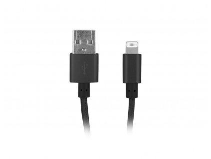 Natec certifikovaný MFI kabel Lightning pro Iphone s textilním opletením 1,5m černý