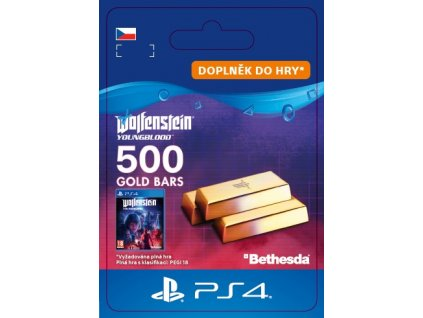ESD CZ PS4 - Wolfenstein: Youngblood - 500 Gold Bars