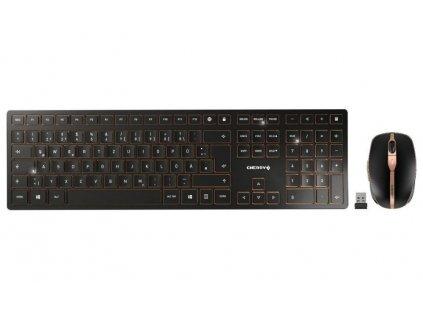 CHERRY set klávesnice a myši DW 9000 slim EU layout černá