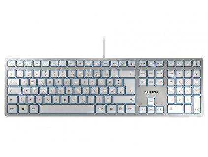 CHERRY klávesnice KC 6000 Slim EU layout stříbrná