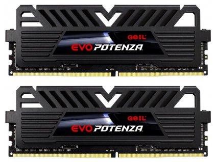 GEIL RAM DDR4 8GB 2133MHz EVO POTENZA / DIMM / KIT 2x 4GB / CL15 / Heatshield / Černé