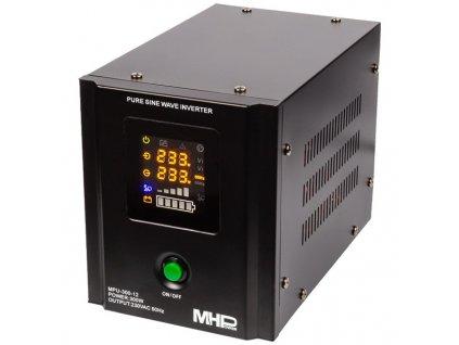 MHPower záložní zdroj MPU-300-12, UPS, 300W, čistý sinus, 12V