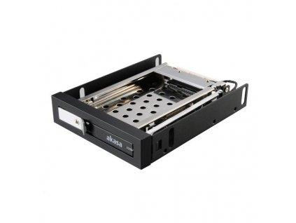 """AKASA HDD box Lokstor M25 / AK-IEN-08 / pro 2,5"""" SATA, do 3,5"""" pozice / zámek / železný / černý"""